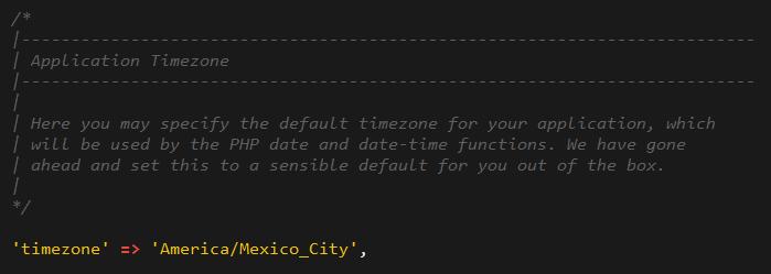 Zona horaria para México