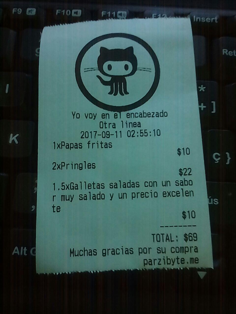 Imprimir ticket en impresora térmica desde PHP - Parzibyte's blog
