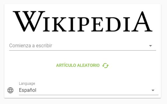 Visor de Wikipedia en español