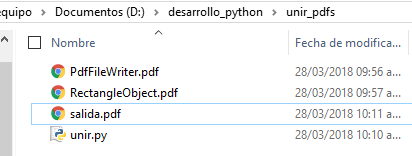 Unir dos o más documentos PDF con Python y PyPDF2