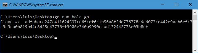 Generar clave hexadecimal de 128 caracteres