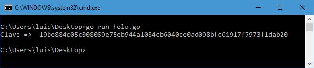 Generar clave hexadecimal de 64 caracteres