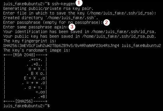 Generar claves SSH