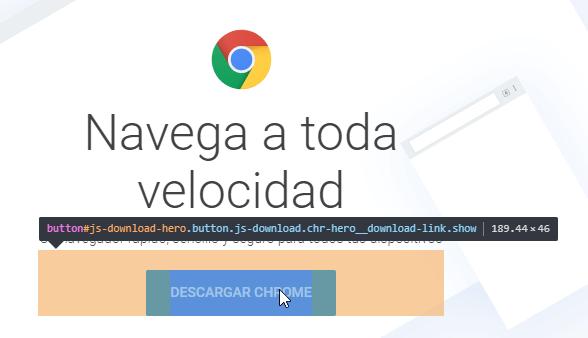 Seleccionar botón para extraer CSS utilizado en una página web