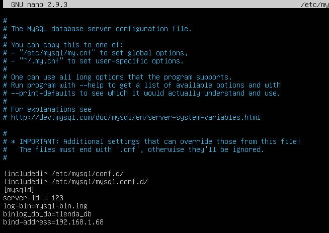 Configuración de my.cnf en Linux