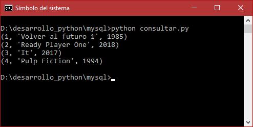 Consultar registros de MySQL con Python 3
