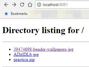 Ver contenido de servidor HTTP a través del navegador