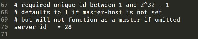 Configurar id del servidor para replicación en MySQL