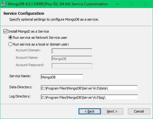 5 - Configurar data, log e instalar como servicio