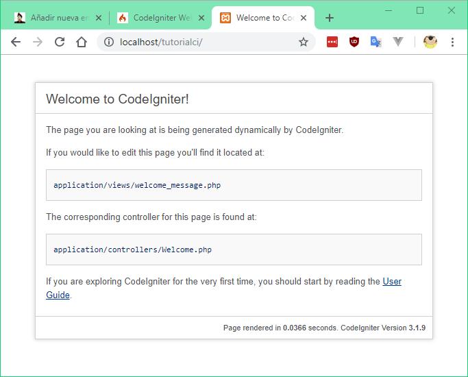Bienvenido a CodeIgniter