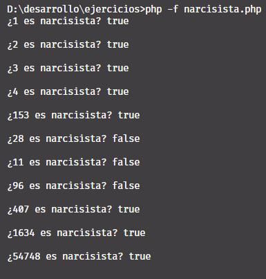 Narcisista en PHP