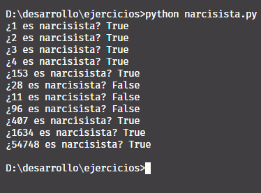 Narcisista en Python