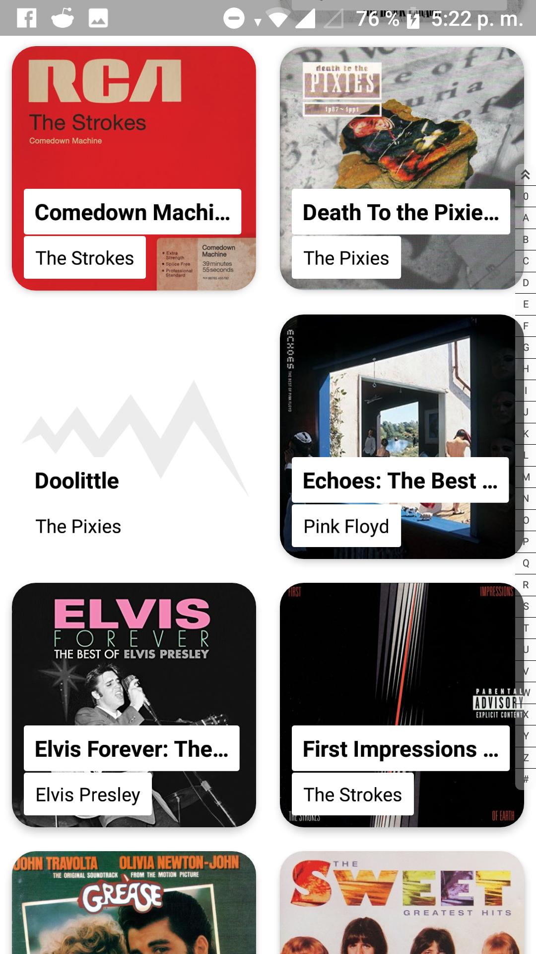 Nueva interfaz para los álbumes