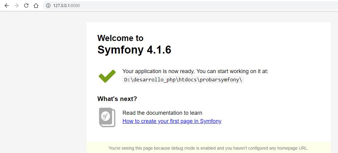 Servir symfony con PHP