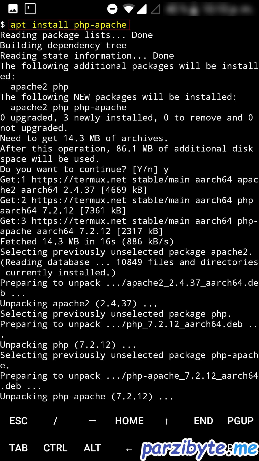 Instalar PHP y Apache en Android