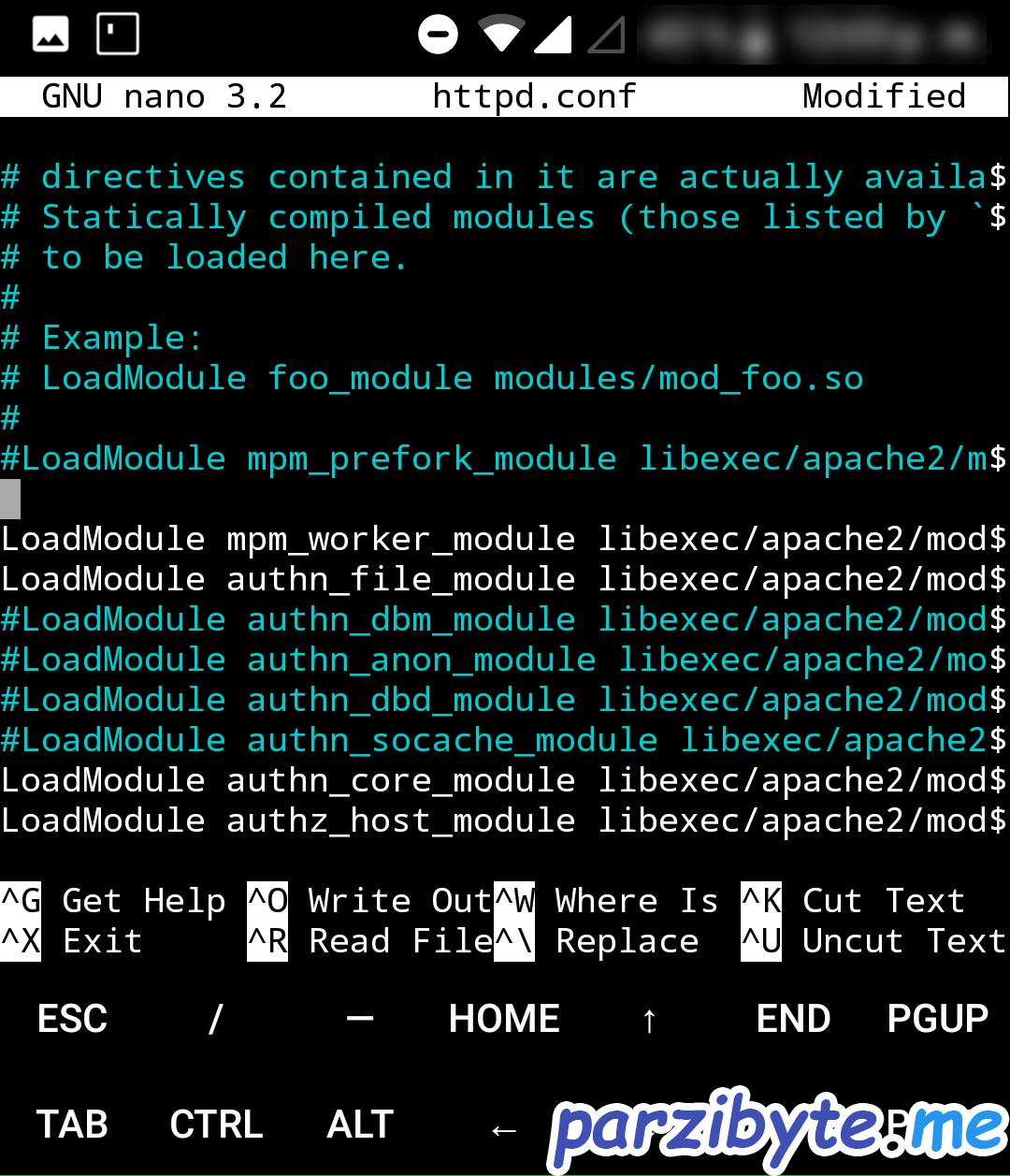 Lugar en donde cargar módulo de PHP 7