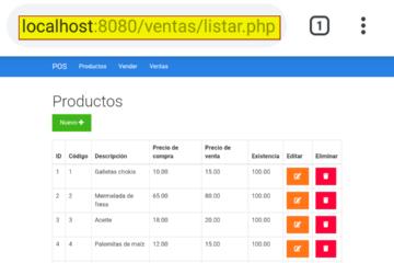 Sistema de ventas en PHP montando en Android