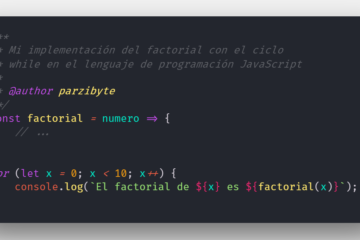 Algoritmo para calcular factorial en JavaScript