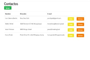 CRUD de MongoDB y PHP, agenda