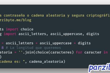 Cadena aleatoria segura criptográficamente con Python