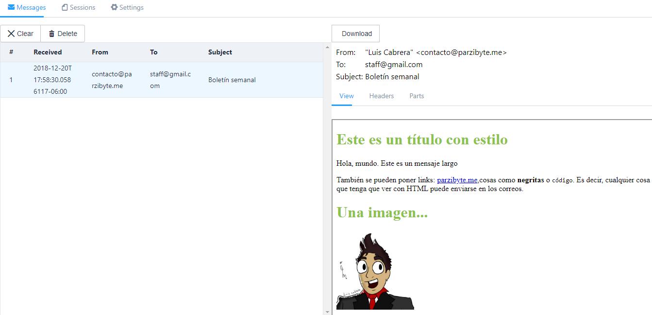Correo electrónico con HTML e imágenes desde PHP con mail