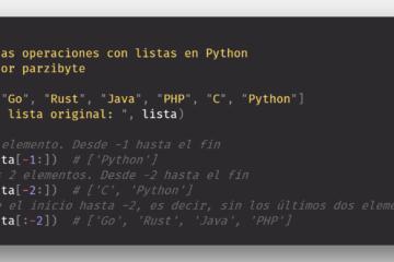 Cortar arreglos en Python, slice en listas
