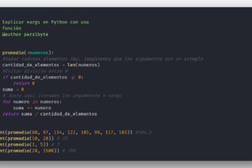 Explicación de args y kwargs en Python. Función promedio