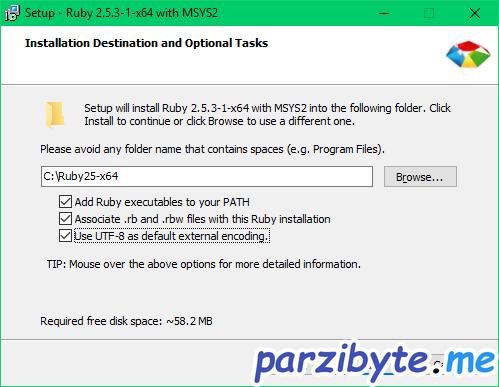 Instalación de Ruby 2 - Agregar a PATH y poner codificación en utf8