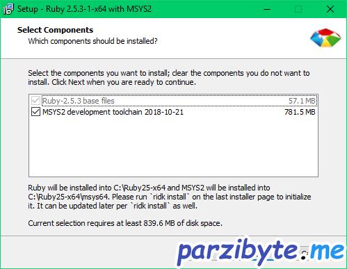 Instalación de Ruby 3 - Instalar MSYS2