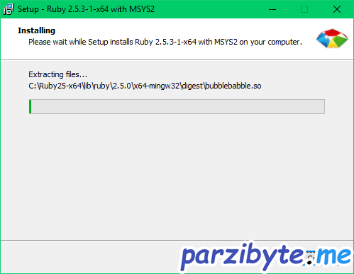Instalar Ruby en Windows con RubyInstaller - Parzibyte's blog