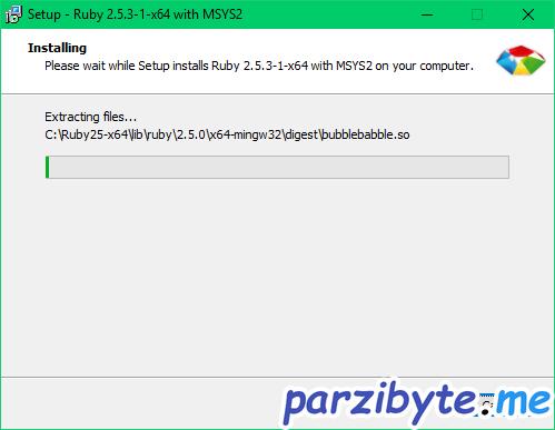 Instalación de Ruby 4 - Instalación en proceso