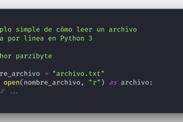 Leer archivos de texto con Python