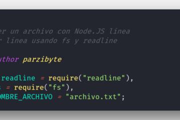 Leer contenido de archivo con Node.JS, readline y fs