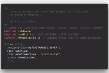 Leer contenido de archivo de texto en C