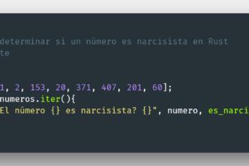Narcisista en el lenguaje de programación Rust