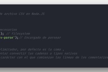 Parsear y leer CSV en Node.JS con csv-parse