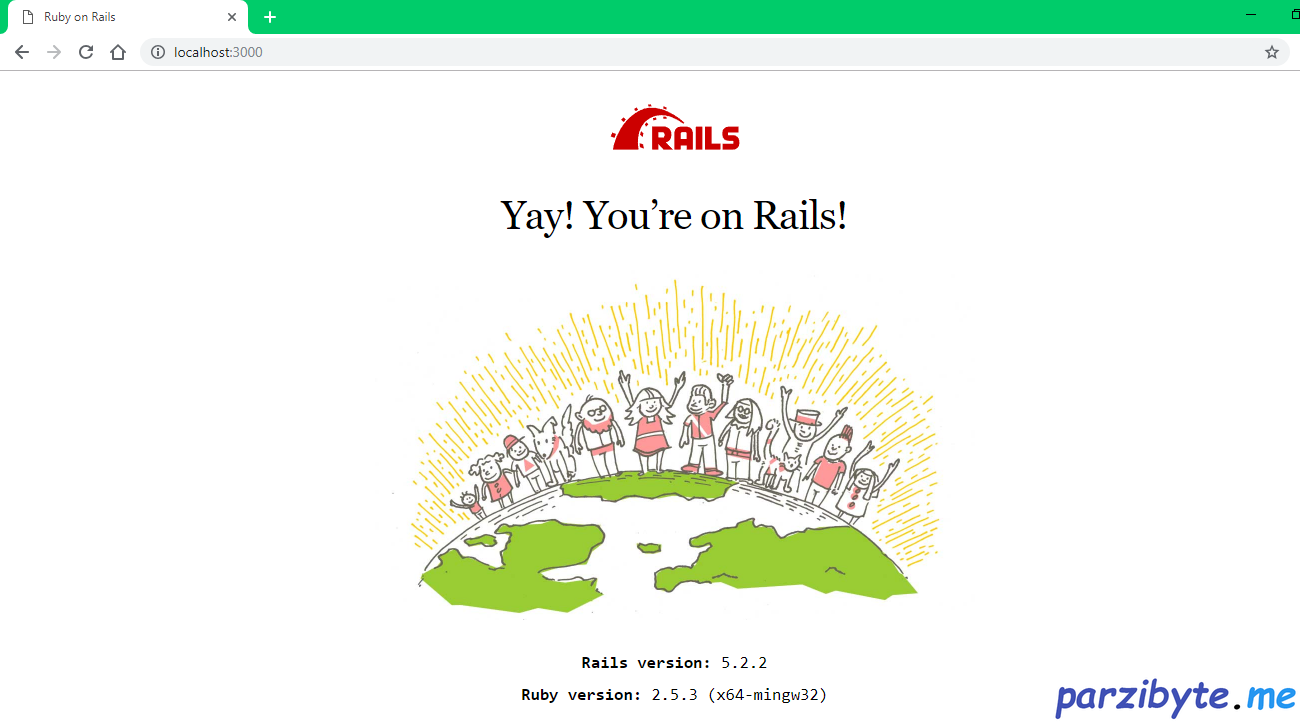 Primera aplicación de ruby on rails