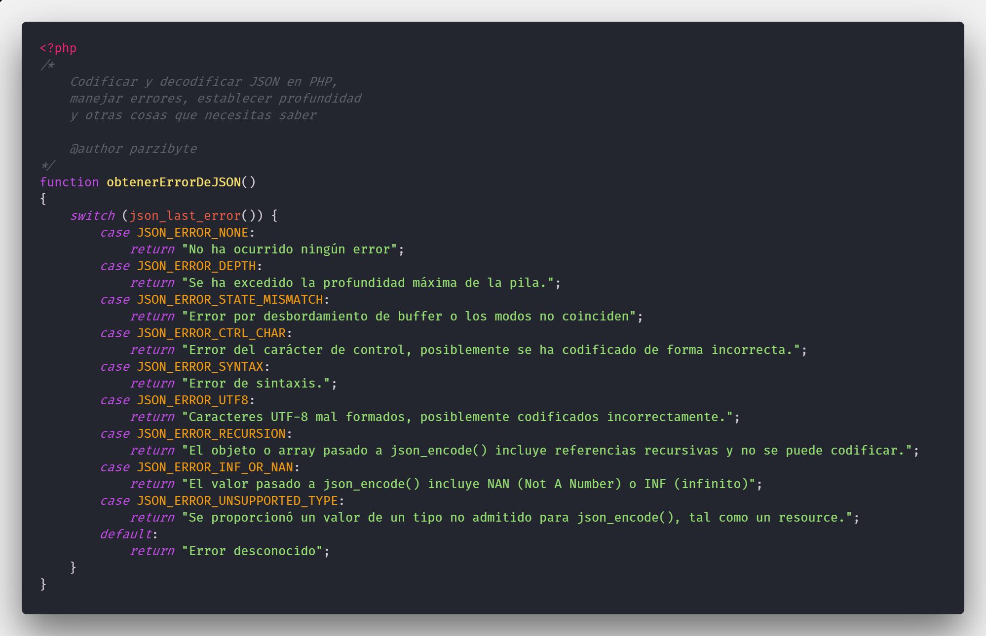 Trabajando con JSON en PHP