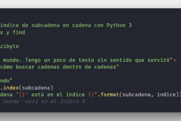 Usar find e index para buscar posición de carácter en cadena con Python 3