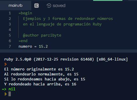 3 maneras de redondear números con Ruby