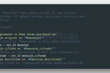 Algoritmo ROT 13 en Ruby