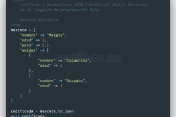 Codificar y decodificar JSON en Ruby usando to_json y JSON.parse