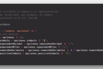 Convertir número a representación monetaria en JavaScript