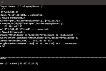 Descargar MySQLTuner para comprobar instalación de MySQL en Linux