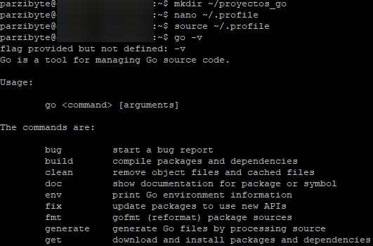 Go en la PATH de Linux