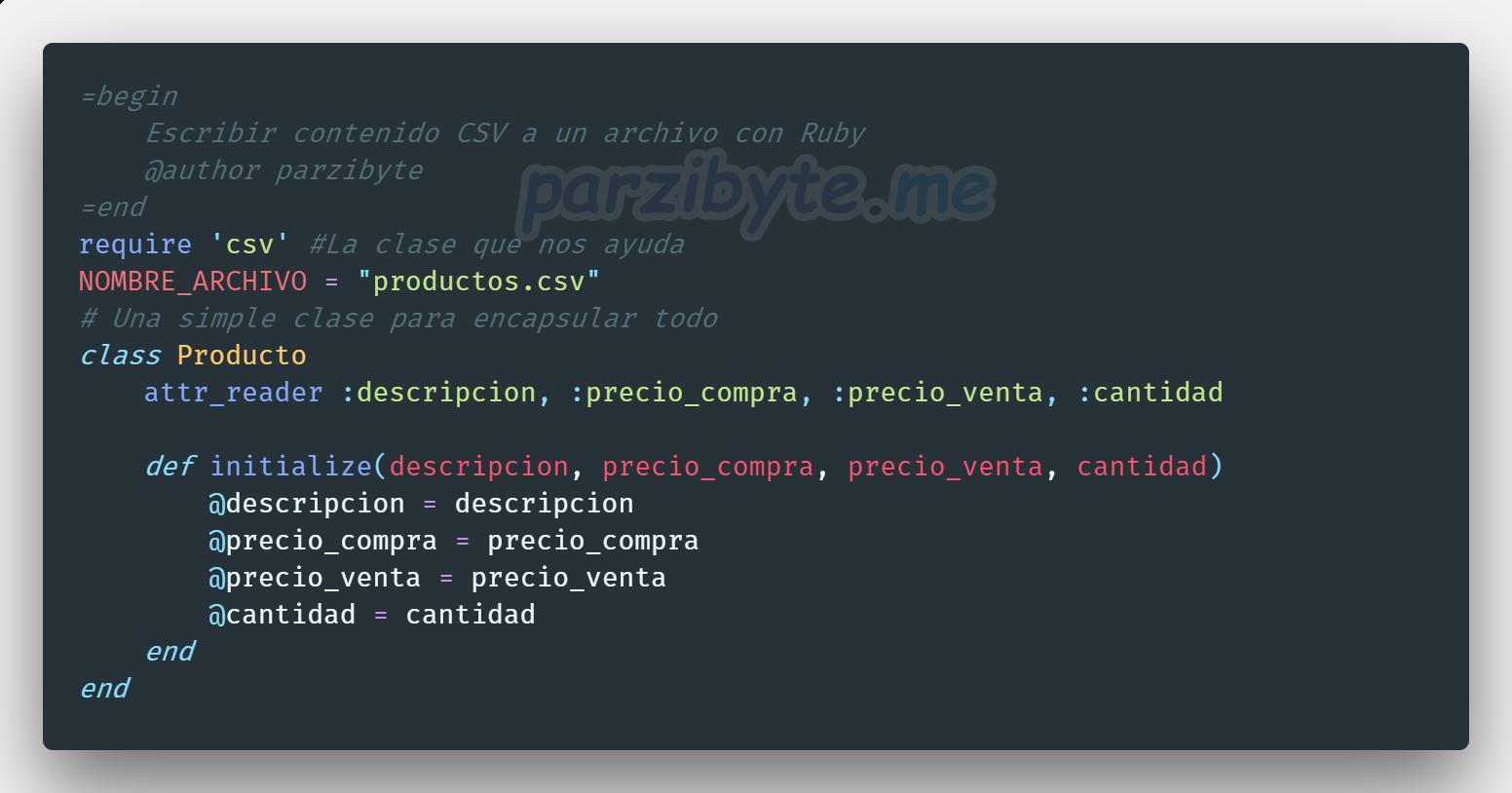 Leer y escribir archivos CSV con Ruby