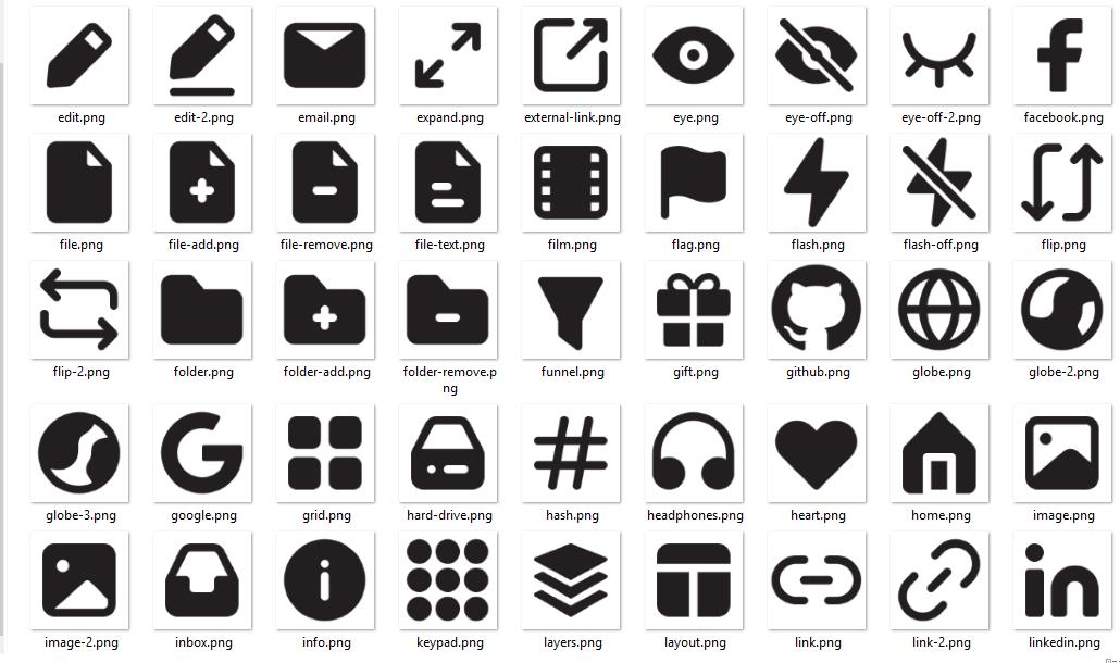Paquete de iconos Eva Icons para la web o para escritorio. Iconos Open source