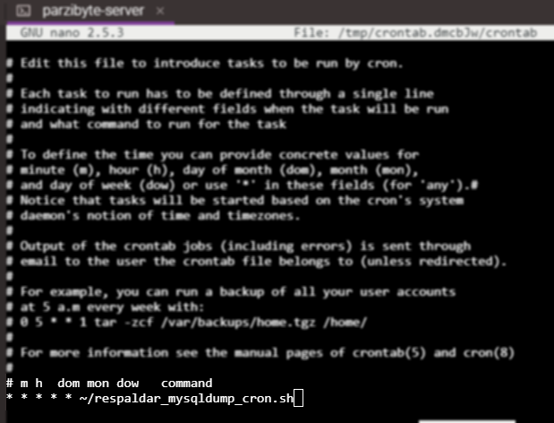 Agendar ejecución de script en crontab