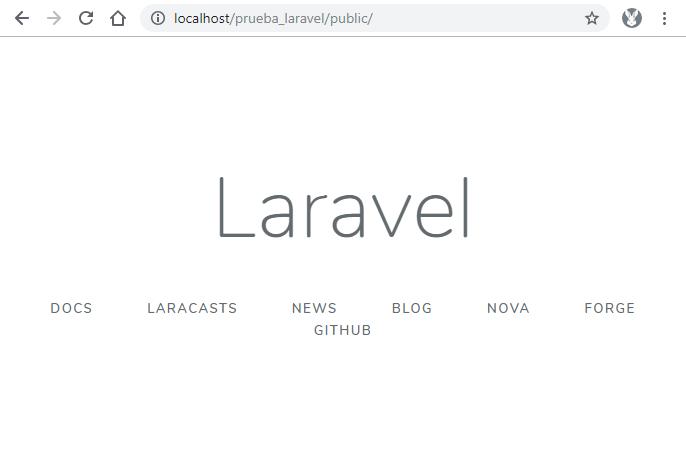 Aplicación web creada con Laravel