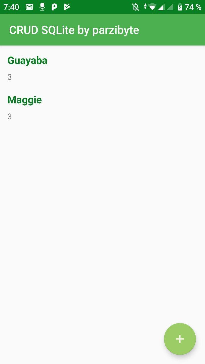 CRUD de SQLite con Android - Mascotas